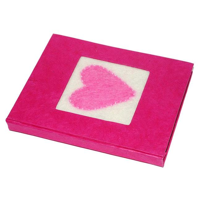 Lokta Paper Pink Heart Love Magical Journal (Nepal)