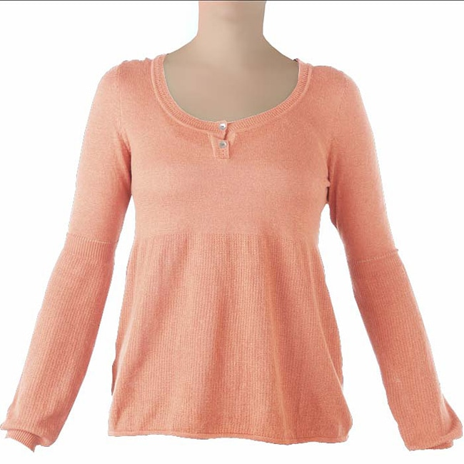 Women's Organic Cotton-blend 'Peace' Orange Knit Pullover (Peru)