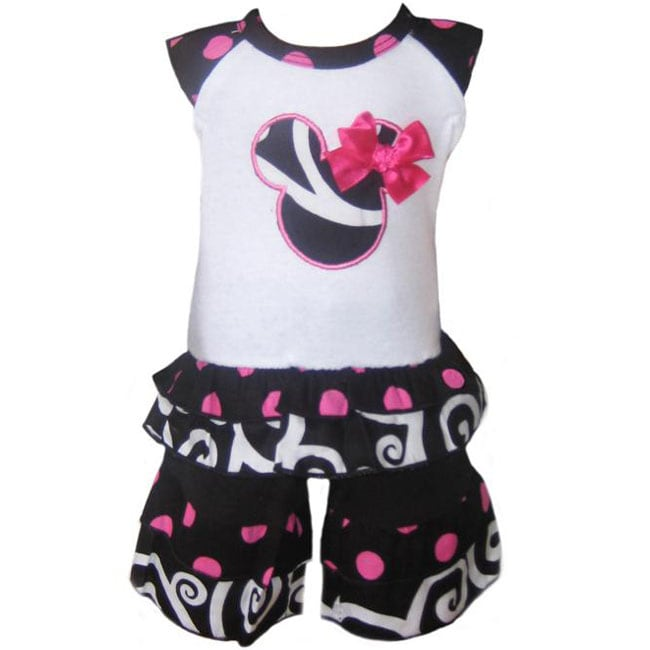 AnnLoren Minnie Mouse Capri Outfit Fits American Girl Dolls