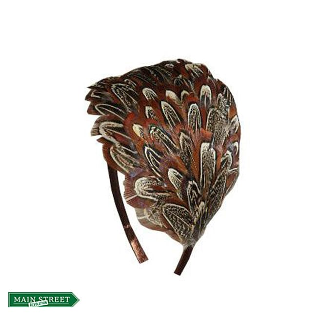 Brown Pheasant Feather Headband