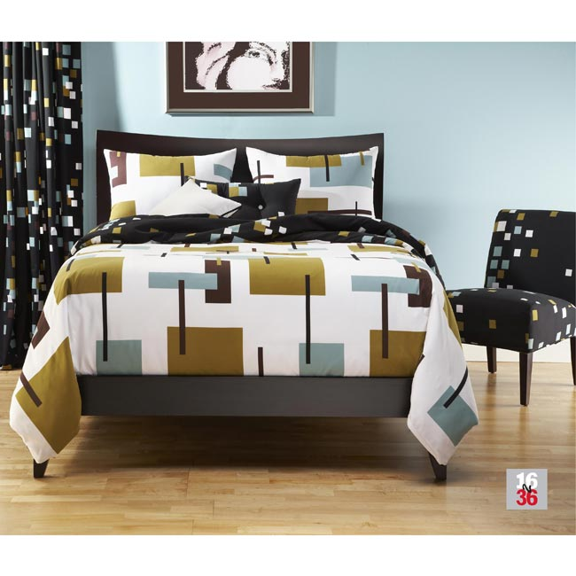 Reconstruction King-size 6-piece Reversible Duvet Cover and Insert Set