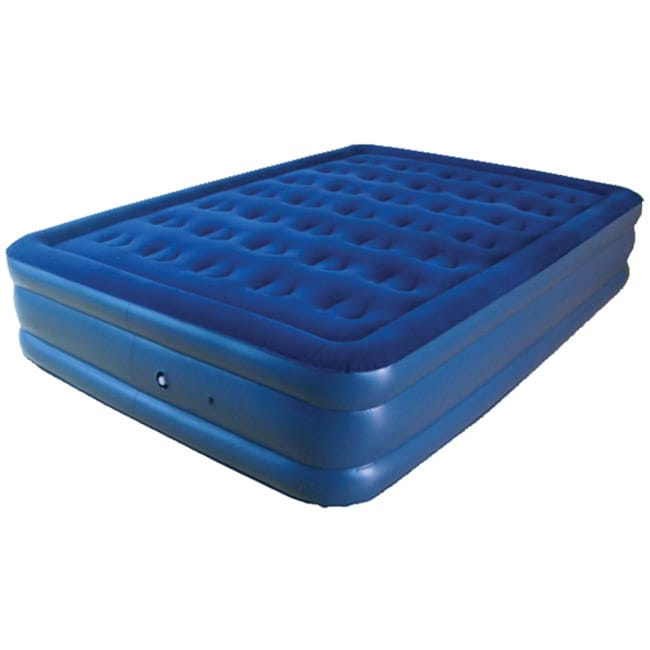 Pure fort Extra Long Queen Raised Flock Top Air Bed