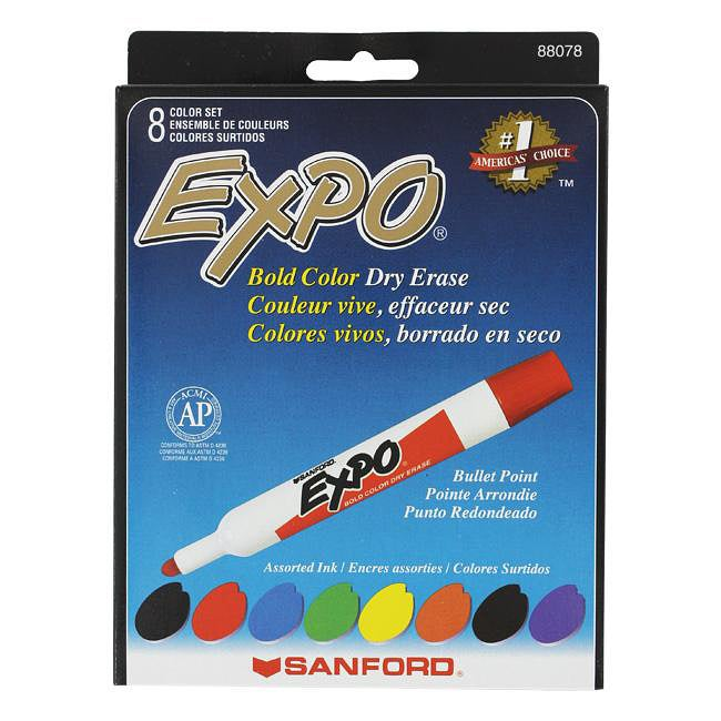 Expo Original Bullet Tip Dry Erase Markers (Pack of 8)