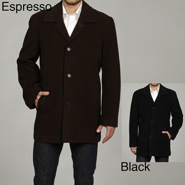 Cole Haan Men's 35-inch Italian Wool/Cashmere Blend Coat