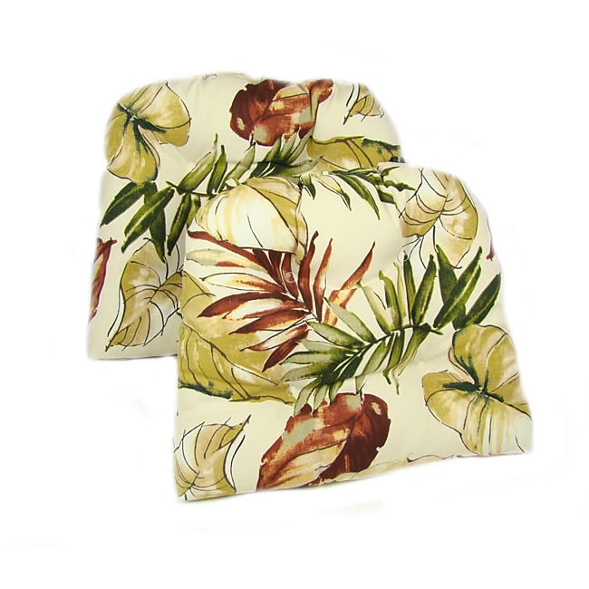 Tropical Print Dining Chair Pads (Set of 2)