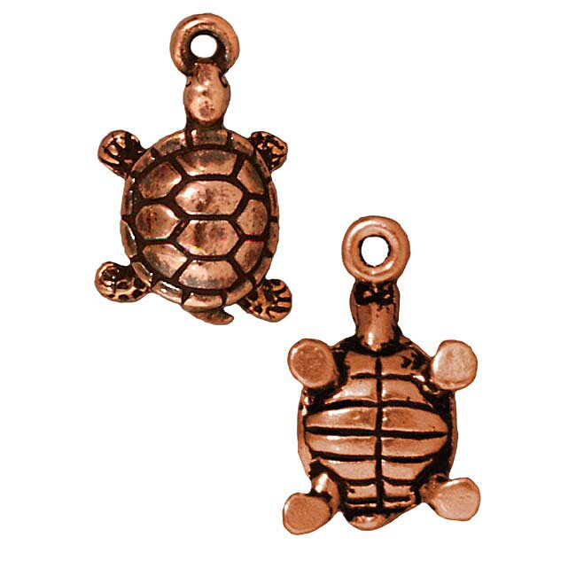Beadaholique Copperplated Lucky Turtle Charms (Set of 2)