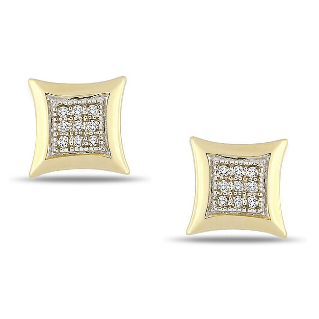 Miadora 10k Yellow Gold Diamond Accent Earrings