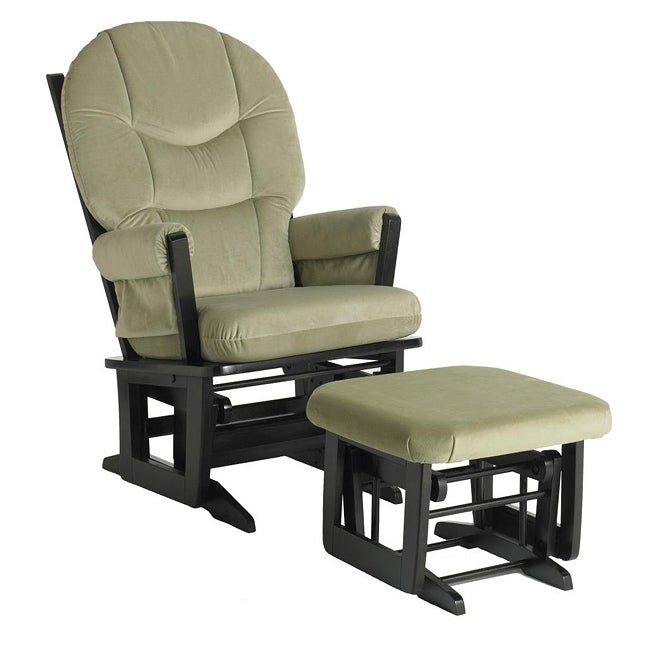 Dutailier Ultramotion Sage Microfiber Glider Chair/ Ottoman Set