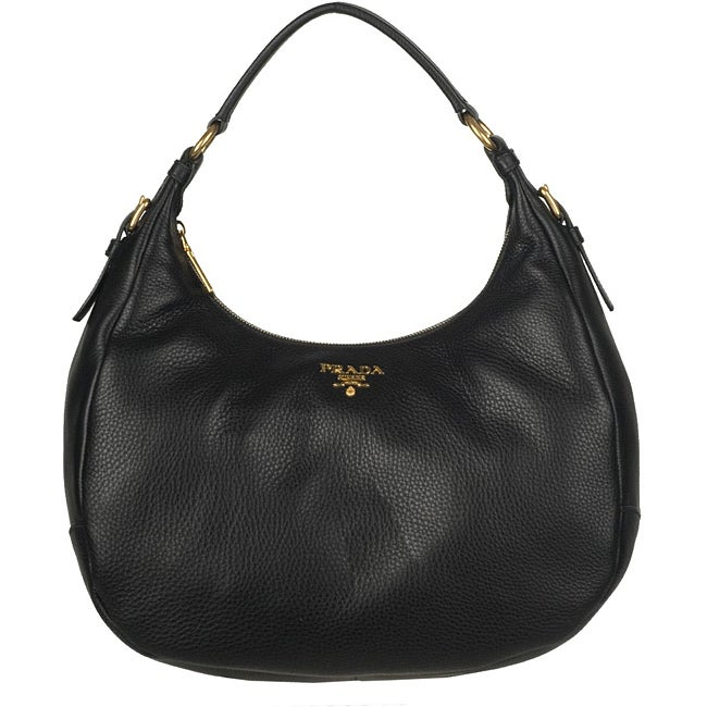 fake prada handbags - Prada BR4311 Vitello Daino Leather Hobo Bag - 13418924 - Overstock ...