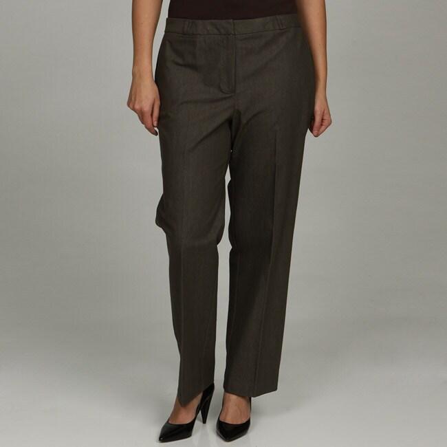 Larry Levine Women's Plus Size Denim Pants