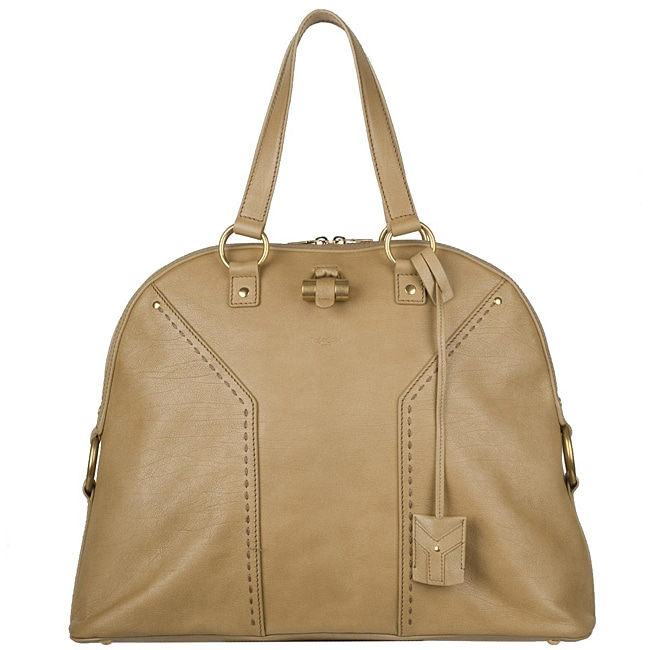 Yves Saint Laurent 153959 Muse Oversized Leather Tote Bag ...