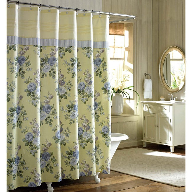 Laura Ashley Caroline Floral Shower Curtain