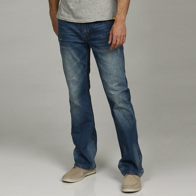 Marc Moto by Andrew Marc Men's Bootcut Denim Jeans
