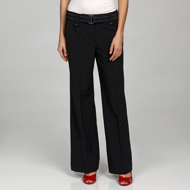 Larry Levine Women's Belted Dress Pants