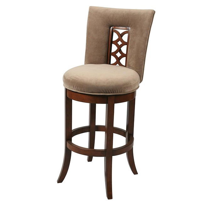 lakeshore 26 inch wood russet cordovan swivel counter stool overstock shopping great deals. Black Bedroom Furniture Sets. Home Design Ideas
