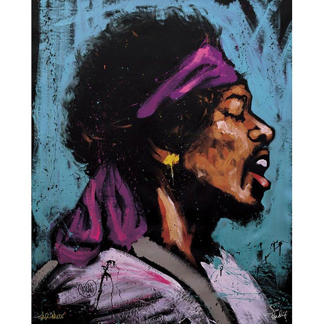 David Garibaldi Jimi Bandana Gallery wrapped Canvas Art