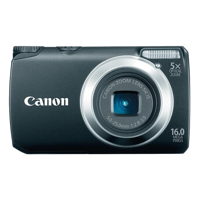 Canon PowerShot A3300IS 16.0MP Black Digital Camera