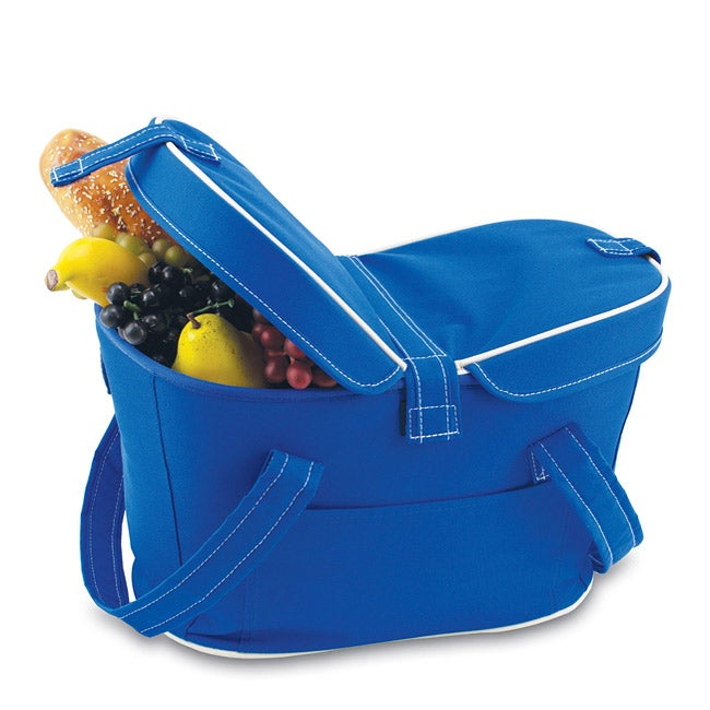 Insulated Mercado Blue Double-lid Cooler Basket