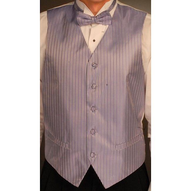 Ferrecci Men's Purple Microfiber Vest Set