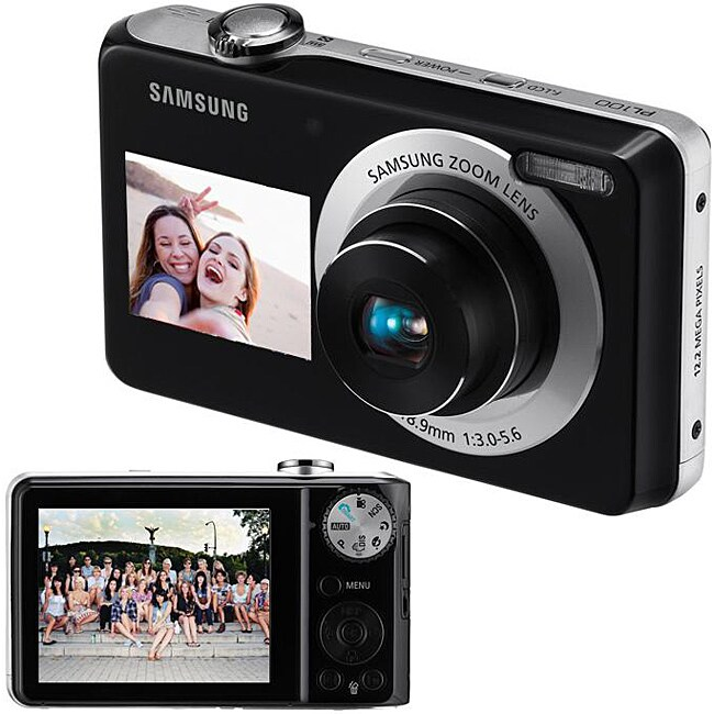 Samsung Dual View PL100 12.2MP Digital Camera (Refurbished)