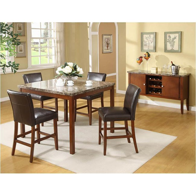 Counter Height Marble Dining Table : Faux Marble Top Counter Height Table - 13453418 - Overstock.com ...
