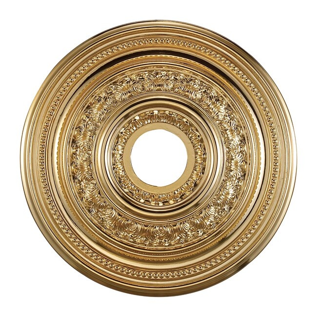 Gold Finish 18-inch Decorative Medallion