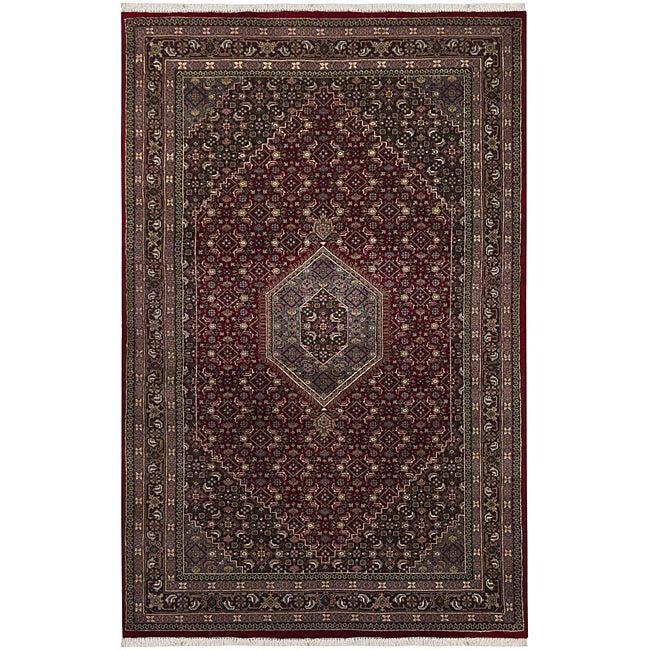 Hand-knotted Mandara Oriental New Zealand Wool Rug (8'6 x 11'6)