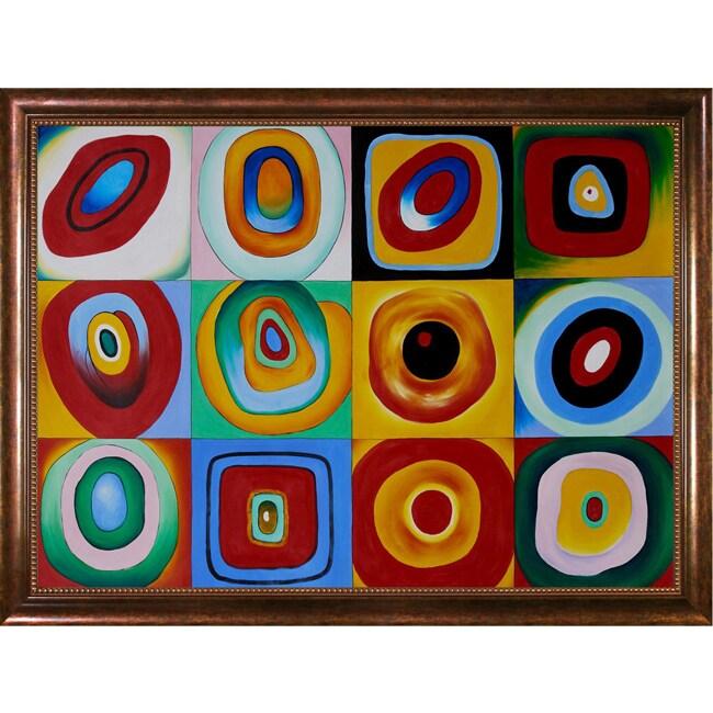 Wassily Kandinsky 'Farbstudie Quadrate' Hand-painted Canvas Art