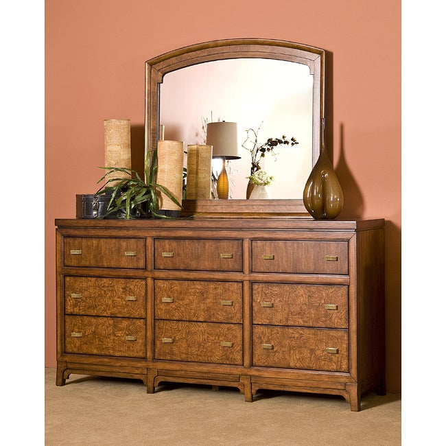 Metro Loft Honey/ Chocolate Dresser and Mirror