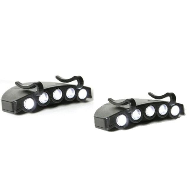 Generic 5-LED Clip-on Cap Light (Pack of 2)