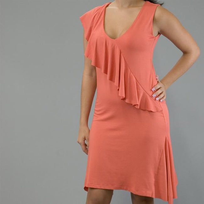 Oliver & James AtoZ Women's Ruffled V-neck Asymmetrical Dress at Sears.com