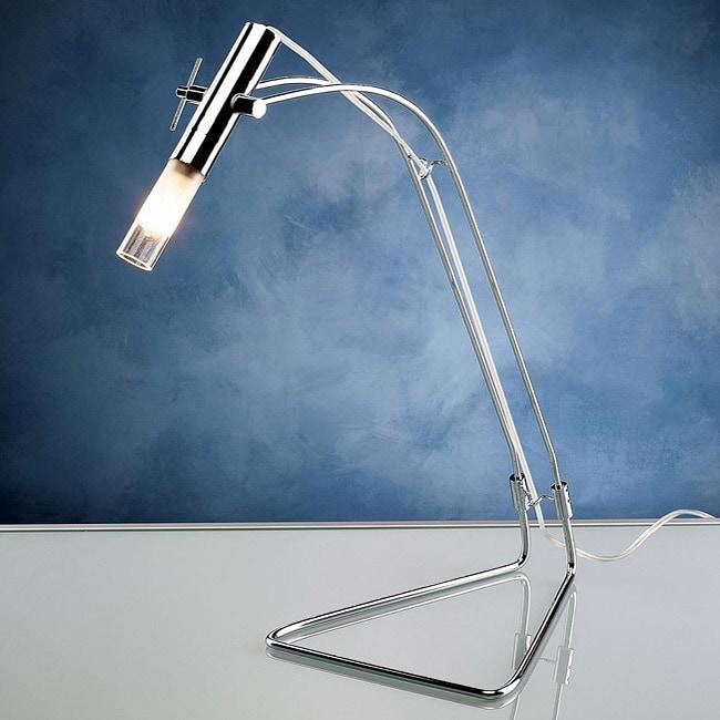 Precision 1-light Chrome Desk Lamp