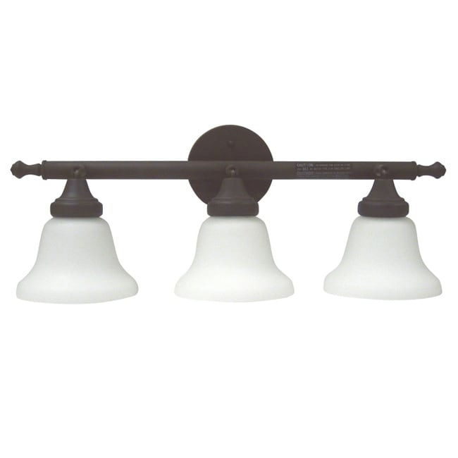 Transitional 3-light Olde Bronze Bath Fixture