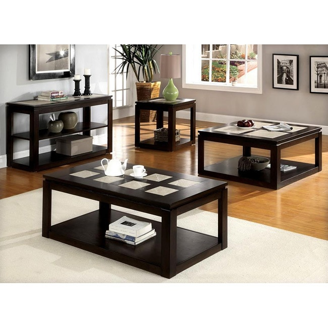 Furniture of America Fiona Modern 4 piece Table Collection