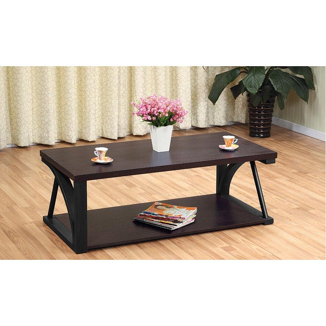 Furniture of America Mackenzie Rectangular Coffee Table
