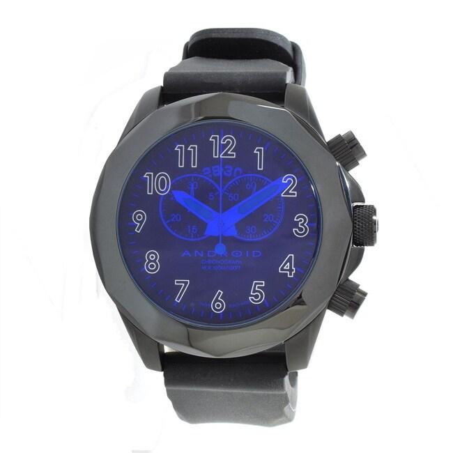 Android Men's Euxine-2 Swiss Quartz Chronograph Rubber Strap Watch