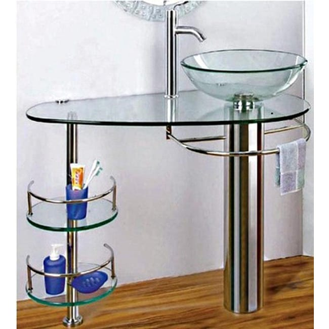 Bathroom Vanity Vessel Sink Combo : Chrome 36-inch Bathroom Vanity Vessel Sink and Faucet Combo - 13471079 ...