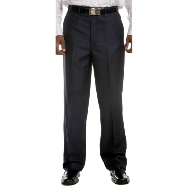 Ferrecci Men's Flat-front Navy Dress Pants