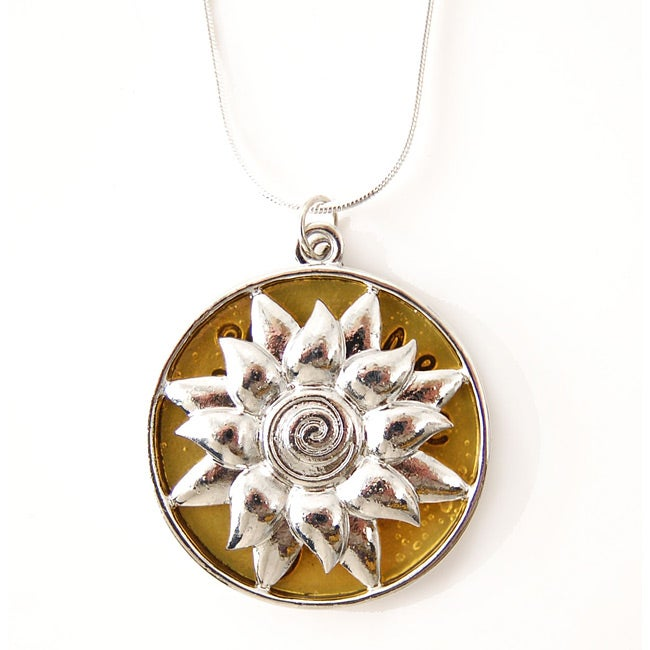 ABO Enterprises Silverplated 'Let the Sun Shine Down on You' Necklace