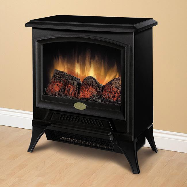 Dimplex Metal/ Glass Electric Flame Compact Stove