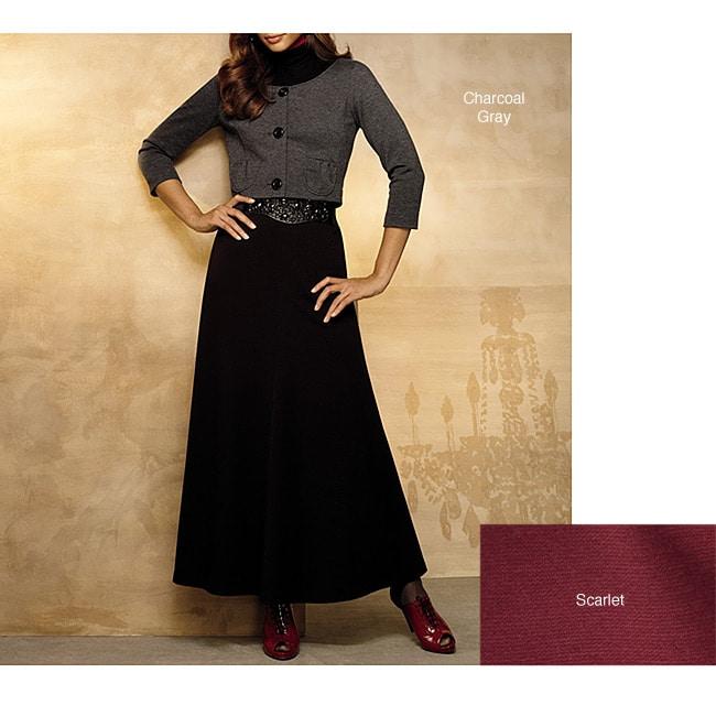 Spiegel Women's Plus Size Cropped Ponte Jacket