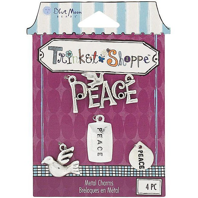 Blue Moon Trinket Shoppe Peace Charms (Pack of 4)