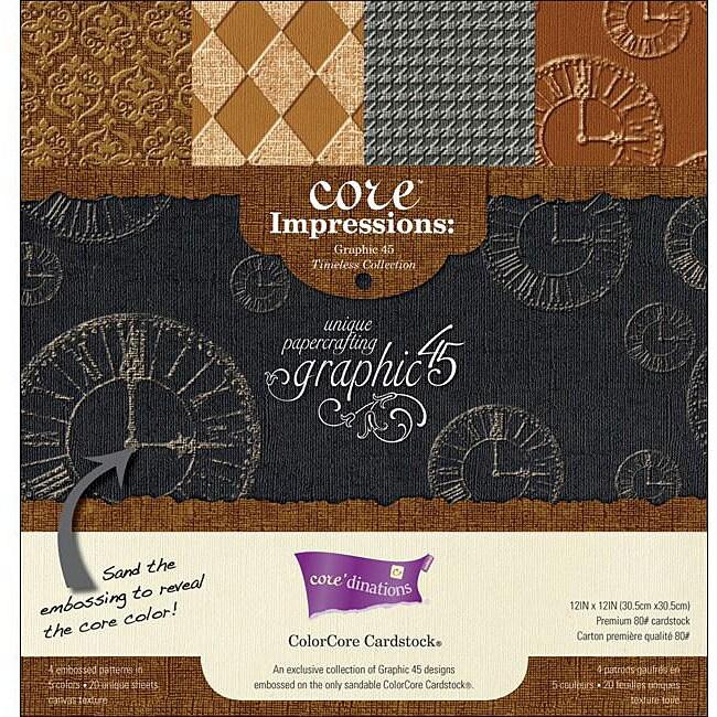 Darice Core Impressions Graphic 45 12x12-inch Embossed Cardstock