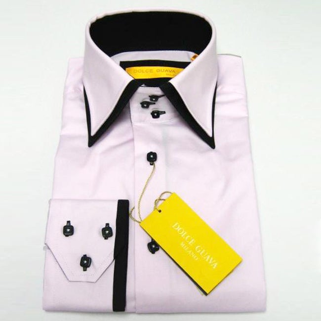 Dolce Guava Pink and Black Dress Shirt