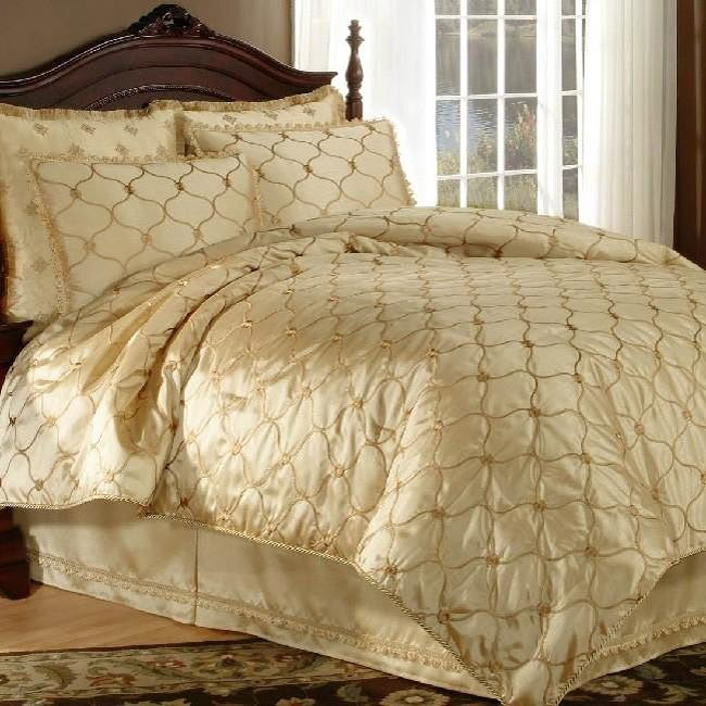 Gold Villa Nova King Size 4 Piece Comforter Set 13479358