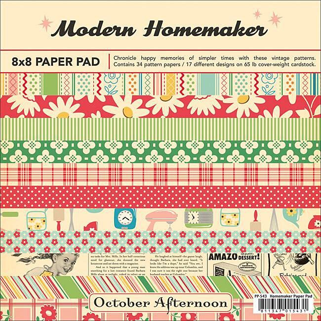 October Afternoon Modern Homemaker 8x8 Patterned Cardstock