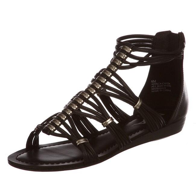 MIA Women's 'Azteca' Black Gladiator Sandals