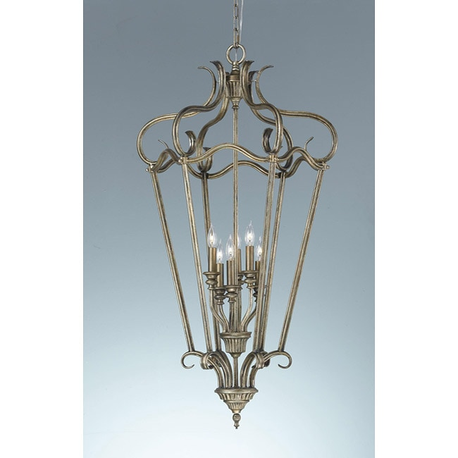 Smokey Topaz 6-light Cage Chandelier