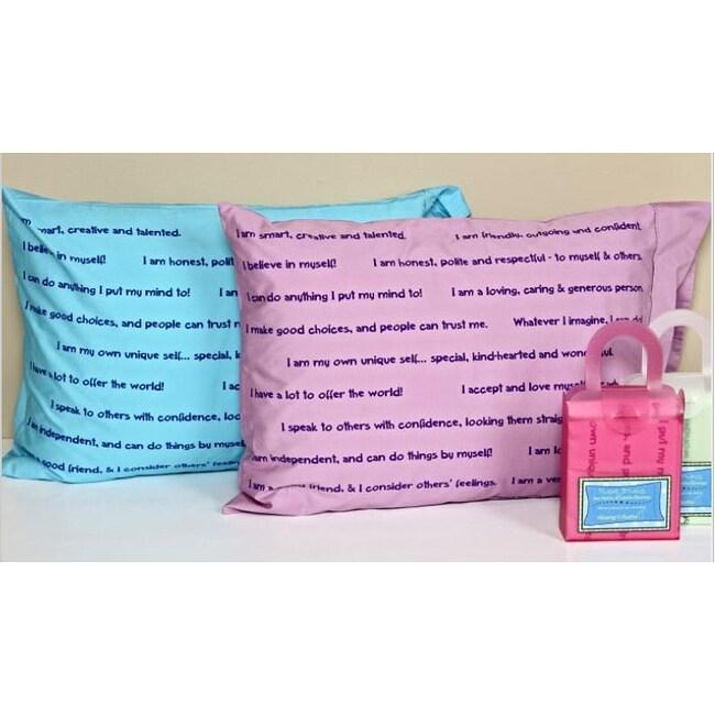 Keeping It Positive Set of 2 Pleasant Dreamz Affirmation Pillowcases
