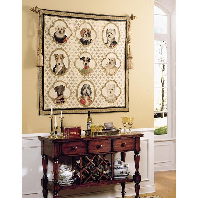 Dogs of Honor Multicolor Cotton Tapestry